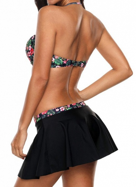 Polyester Color Block Bikinis Swimwear_2