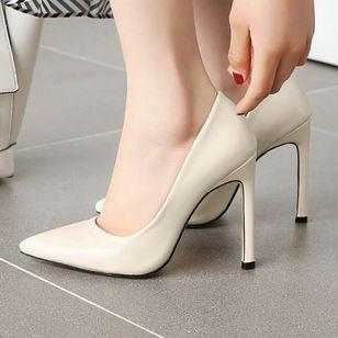 Women's Pointed Toe Heels Patent Leather Stiletto Heel Sandals_8