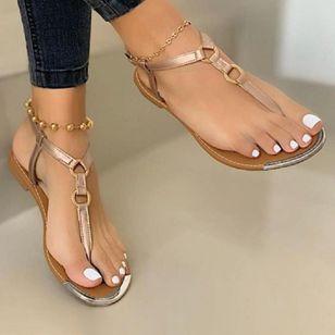Women's Buckle Flats Slingbacks Flat Heel Sandals_3