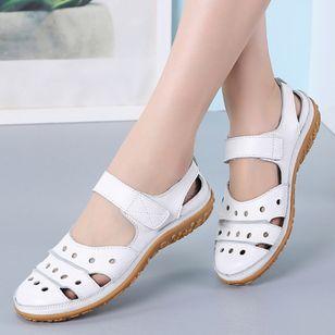 Women's Hollow-out Flats Flat Heel Sandals_3