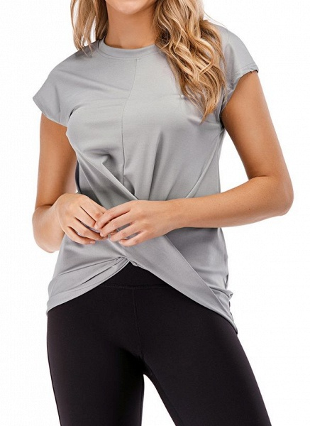 Women's Casual Polyester Fitness T-shirt Fitness & Yoga_5