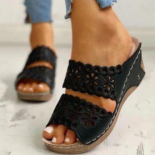 Women's Hollow-out Heels Wedge Heel Sandals_4