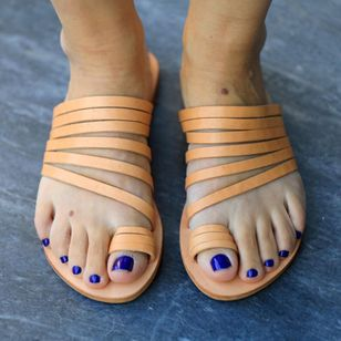 Women's Toe Ring Flat Heel Sandals_3