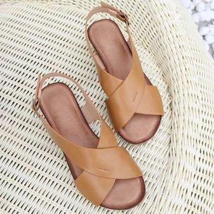 Women's Buckle Slingbacks Wedge Heel Sandals_9