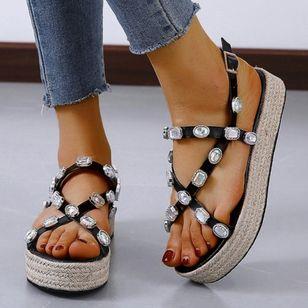 Women's Buckle Slingbacks Flat Heel Sandals Platforms_4