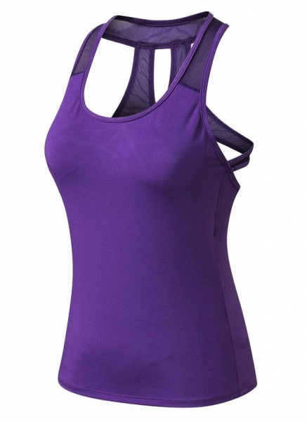 Women's Athletic Casual Polyester Yoga Top Fitness & Yoga_5