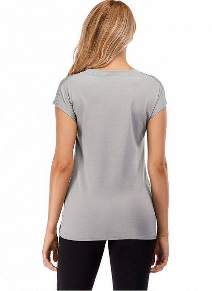 Women's Casual Polyester Fitness T-shirt Fitness & Yoga_3