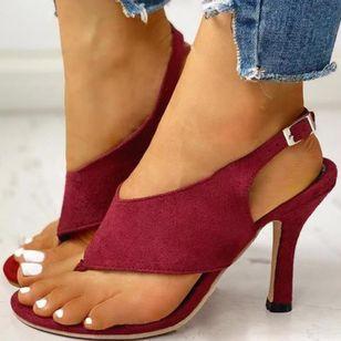Women's Buckle Slingbacks Flip-Flops Stiletto Heel Sandals_1