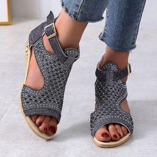 Women's Buckle Flats Flat Heel Sandals_8