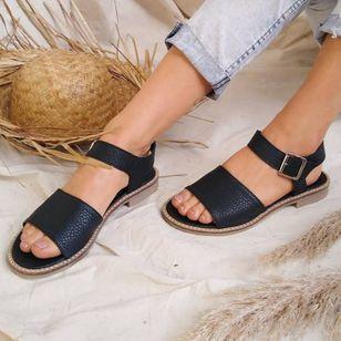 Women's Buckle Round Toe Low Heel Sandals_9