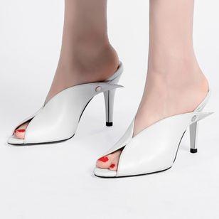 Women's Heels Leatherette Stiletto Heel Sandals_3