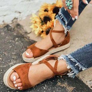 Women's Flats Linen Flat Heel Sandals_3
