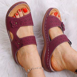 Women's Flower Slingbacks Flat Heel Sandals_4