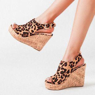 Women's Buckle Ankle Strap Peep Toe Wedge Heel Sandals_2