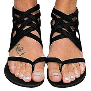 Women's Zipper Flip-Flops Flat Heel Sandals_2
