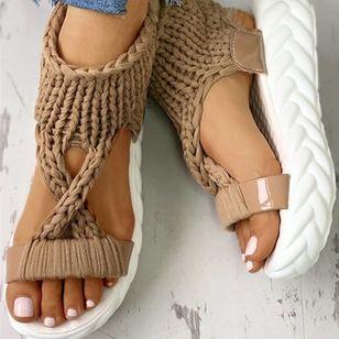 Women's Flats Cloth Flat Heel Sandals Platforms_5