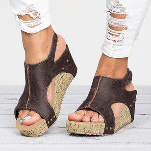 Women's Velcro Heels Wedge Heel Sandals_3