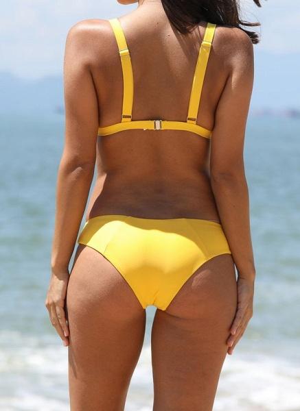 Spandex Nylon Solid Bikinis Swimwear_4