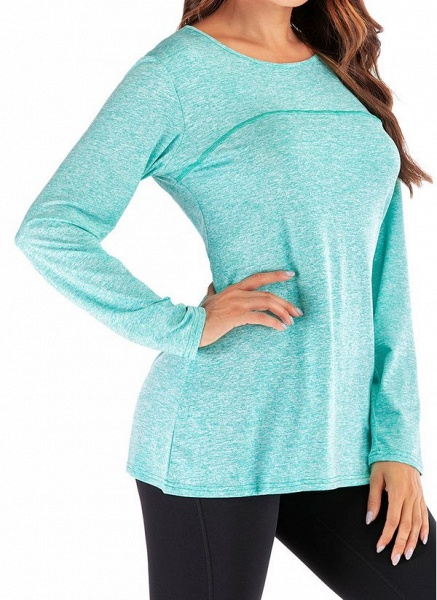 Women's Casual Polyester Yoga T-shirt Fitness & Yoga_2