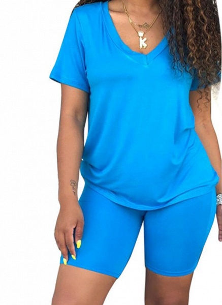 Women's Basic Cotton Blends Fitness Clothing Suit Fitness & Yoga_4