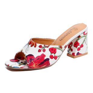 Women's Flower Heels Chunky Heel Sandals_4