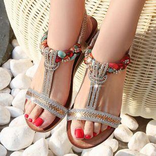 Women's Rhinestone Heels Wedge Heel Sandals_4