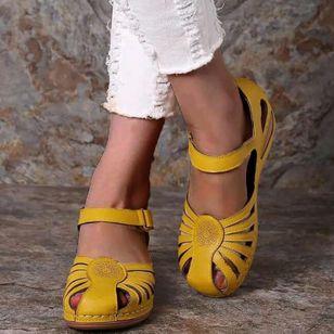 Women's Round Toe Wedge Heel Sandals_6