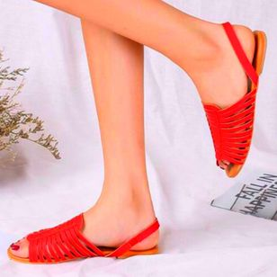 Women's Slingbacks Nubuck Flat Heel Sandals_4