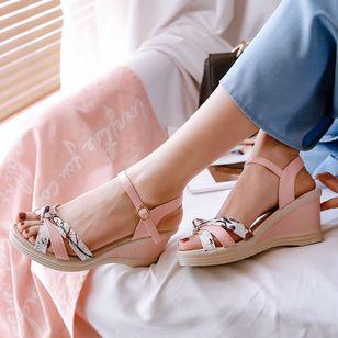 Women's Buckle Slingbacks Wedge Heel Sandals_7