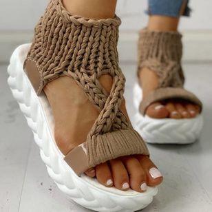 Women's Flats Cloth Flat Heel Sandals Platforms_10