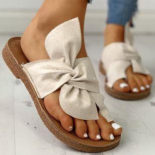 Women's Bowknot Flats Cloth Flat Heel Sandals_1