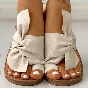 Women's Bowknot Flats Cloth Flat Heel Sandals_10