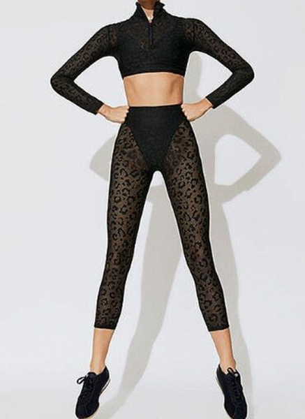 Women's Athletic Sexy Lace Yoga Clothing Suit Fitness & Yoga_2