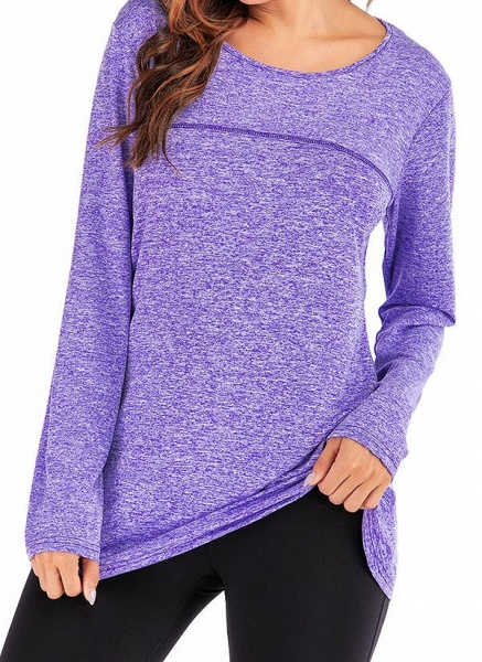 Women's Casual Polyester Yoga T-shirt Fitness & Yoga_6