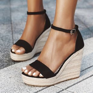 Women's Ankle Strap Modern Nubuck Wedge Heel Sandals_1