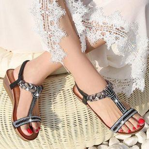 Women's Rhinestone Heels Wedge Heel Sandals_2