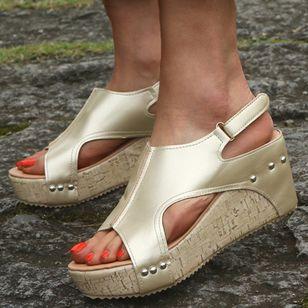 Women's Slingbacks Wedge Heel Sandals Platforms_2