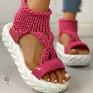 Women's Flats Cloth Flat Heel Sandals Platforms_11