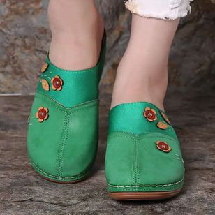 Women's Flower Closed Toe Wedge Heel Sandals_3