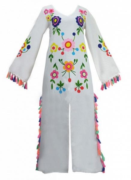 Casual Floral V-Neckline Maxi Shift Dress_2