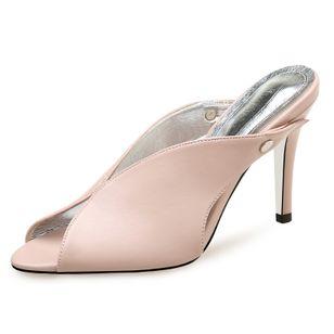 Women's Heels Leatherette Stiletto Heel Sandals_5