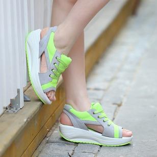 Women's Lace-up Wedge Heel Sandals_1