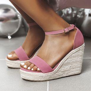 Women's Ankle Strap Modern Nubuck Wedge Heel Sandals_5