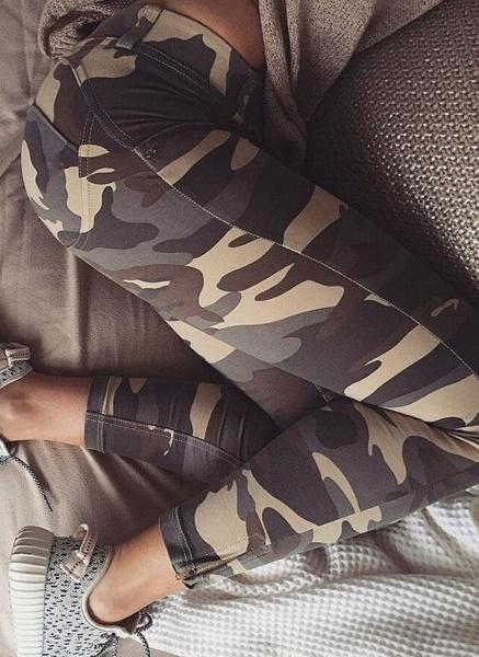 Women's Athletic Casual Fashion Polyester Yoga Leggings Fitness & Yoga_4