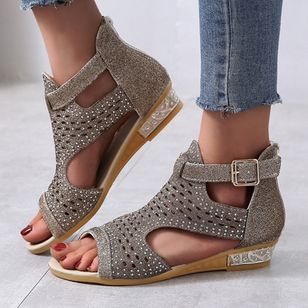 Women's Buckle Flats Flat Heel Sandals_7