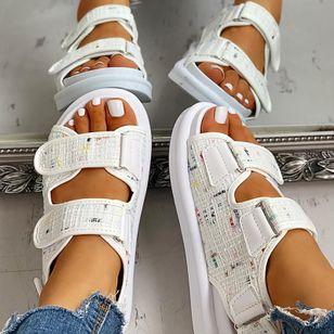 Women's Velcro Slingbacks Wedge Heel Sandals_4