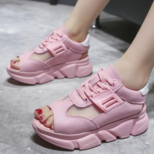 Women's Lace-up Split Joint Flats Flat Heel Sandals_3