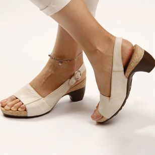 Women's Buckle Slingbacks Chunky Heel Sandals_8