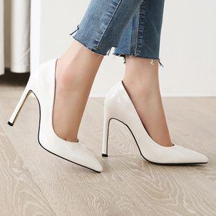 Women's Pointed Toe Heels Patent Leather Stiletto Heel Sandals_7