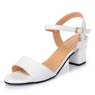 Women's Ankle Strap Peep Toe Low Heel Sandals_2